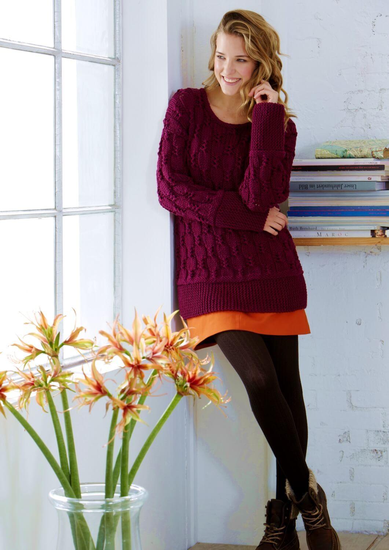 Strick Pullover mit Strukturmuster   Pullover   Pullover