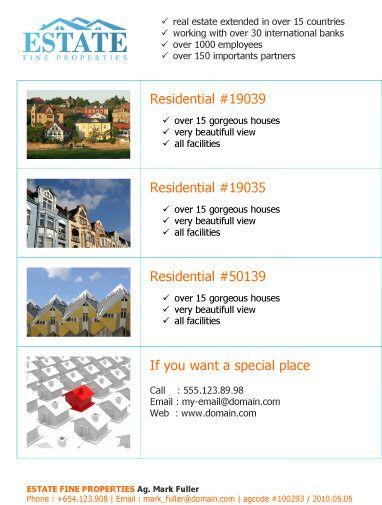 leaflet for multiple properties free flyer template by hloom com