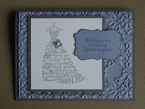 Stampin' Up Wedding Or Bridal Shower Card Kit
