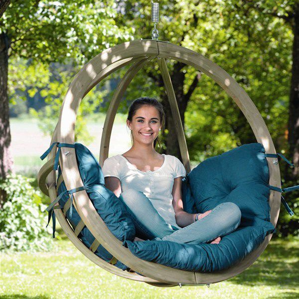 Garden Furniture Pod amazonas globo wooden hanging swing chair | wooden garden swing