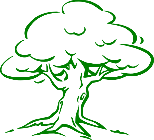 cartoon tree imges green oak tree clip art vector clip art rh pinterest com Theme Clip Art Graphic Novel Clip Art