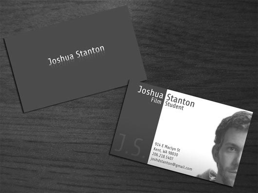 Self Portrait Business Cards Business Cards Collection Calling Card Design Business Cards