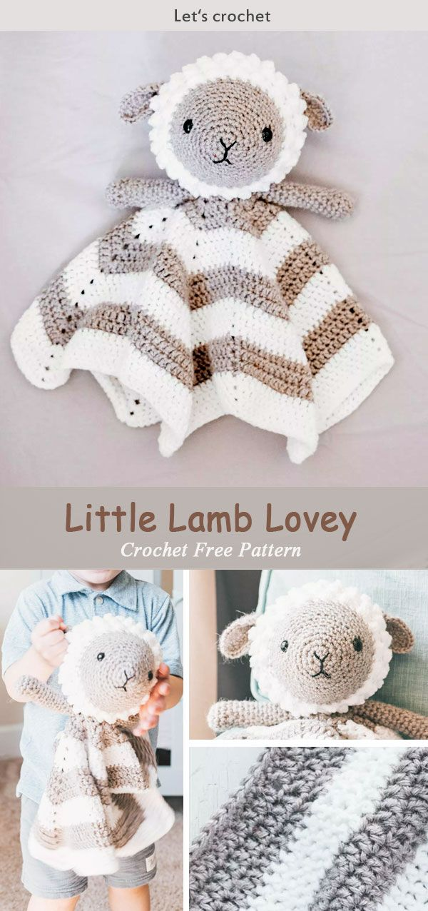 Crochet Little Lamb Lovey Free Pattern | Amigurumi | Pinterest | Tu ...