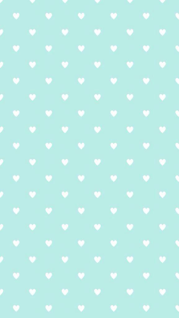 Mint Green Mini Hearts Bg Pattern Wallpaper Heart Wallpaper Mint Green Wallpaper