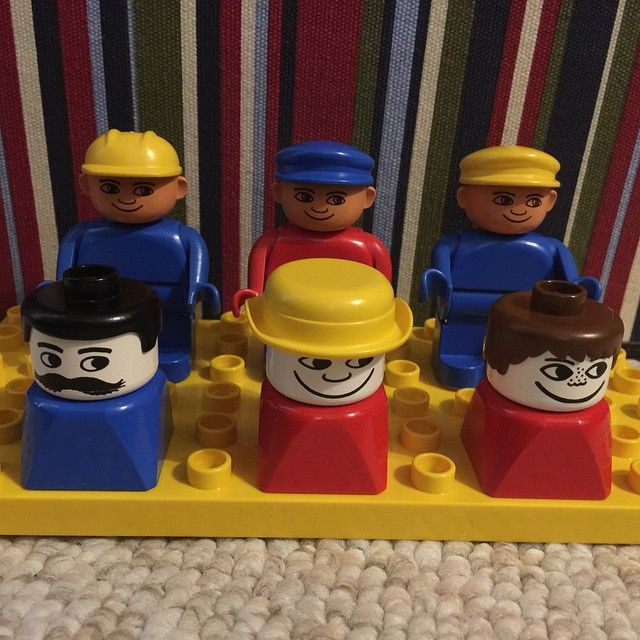 Nothing like creepy old school DUPLO to keep the kids entertained at Nana & Grandpa's. #Lego #duplo #oldschool
