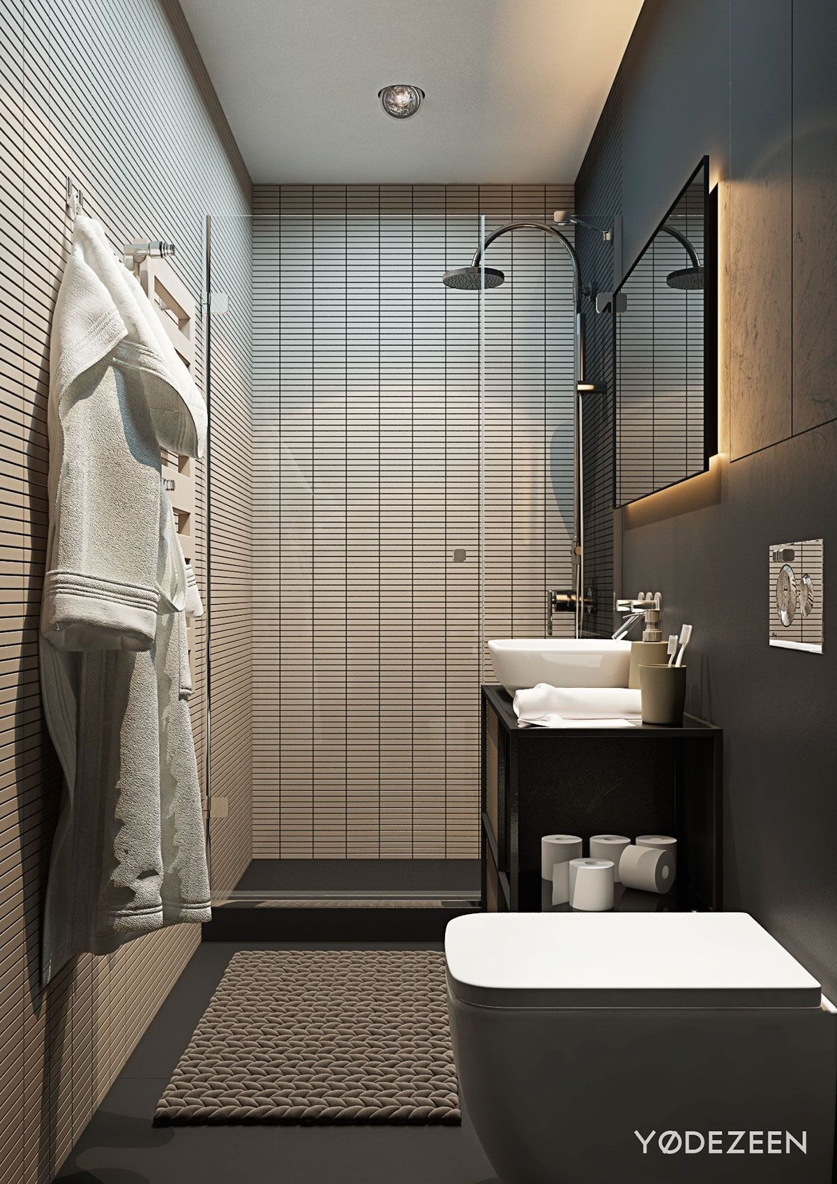 Awesome Nice Apartment Bathrooms Ideas For You Like The Remainder Of The Trendy Apa Apartment Bathroom Design Small Apartment Bathroom Small Apartment Design