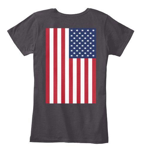 I Love Us Limited Heathered Charcoal  Women's T-Shirt Back