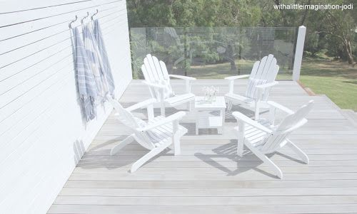 White Washed Decking Stain comparison of timber to right