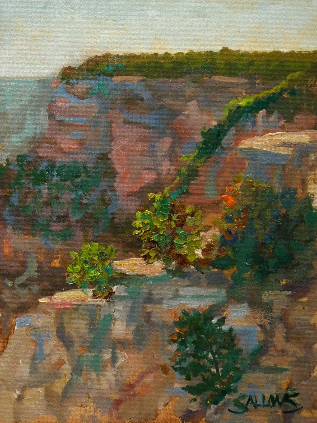 Original Oil Painting Grand Canyon Southwest Art Western
