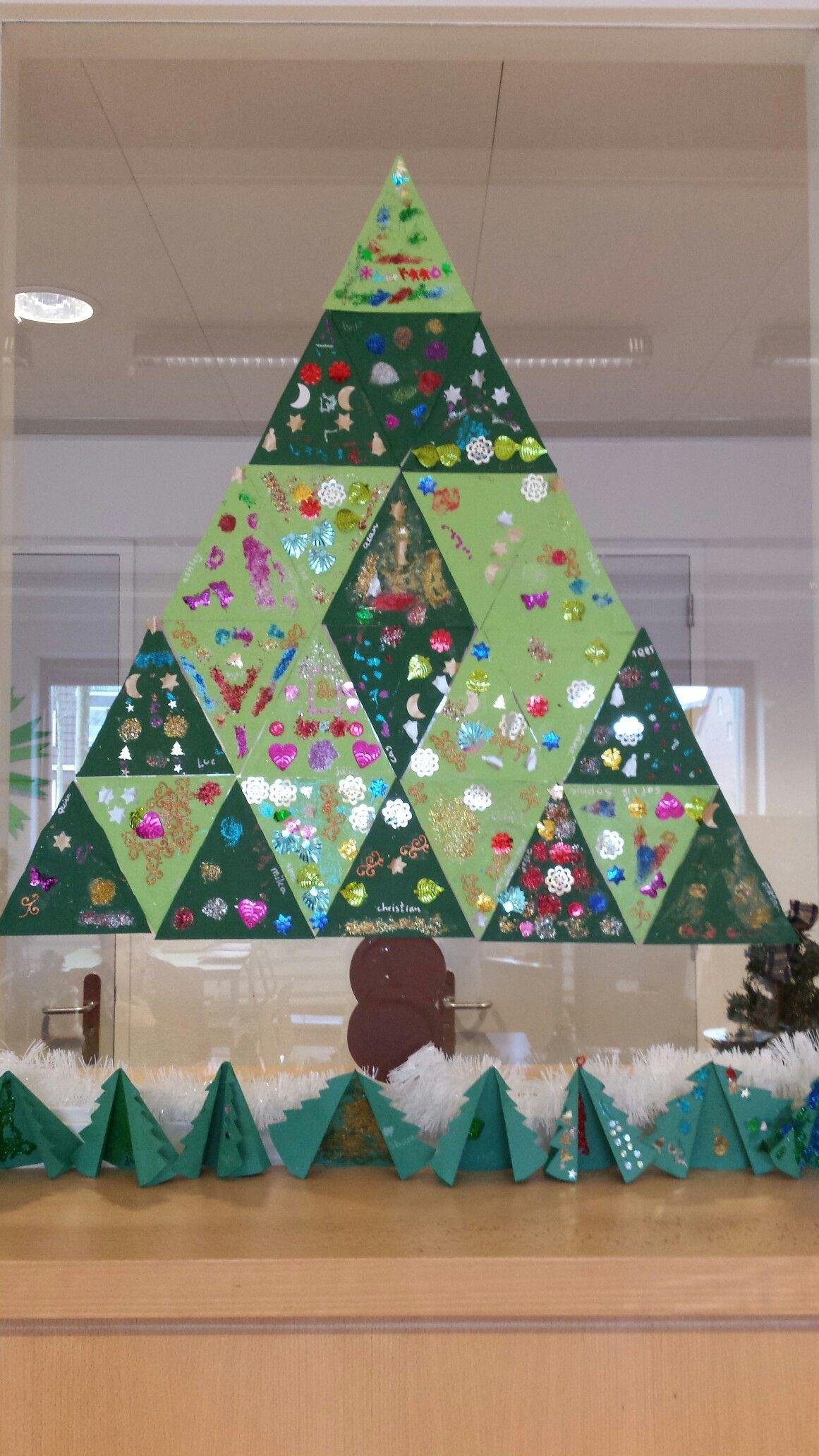 Kerstboom van driehoeken