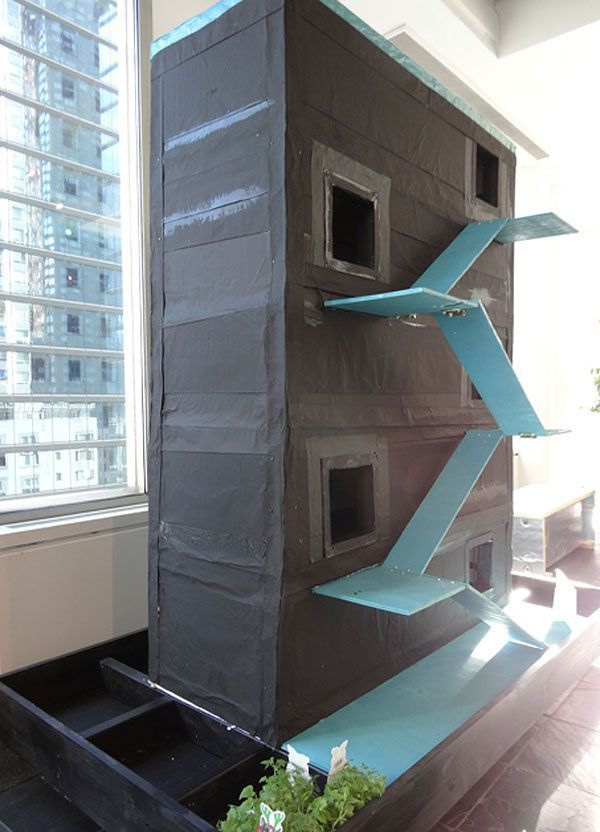 Architects For Animals Feral Cats In New York City Get Cool Shelters Catsdiyenclosure Feral Cats Outdoor Cat Shelter Cat Condo