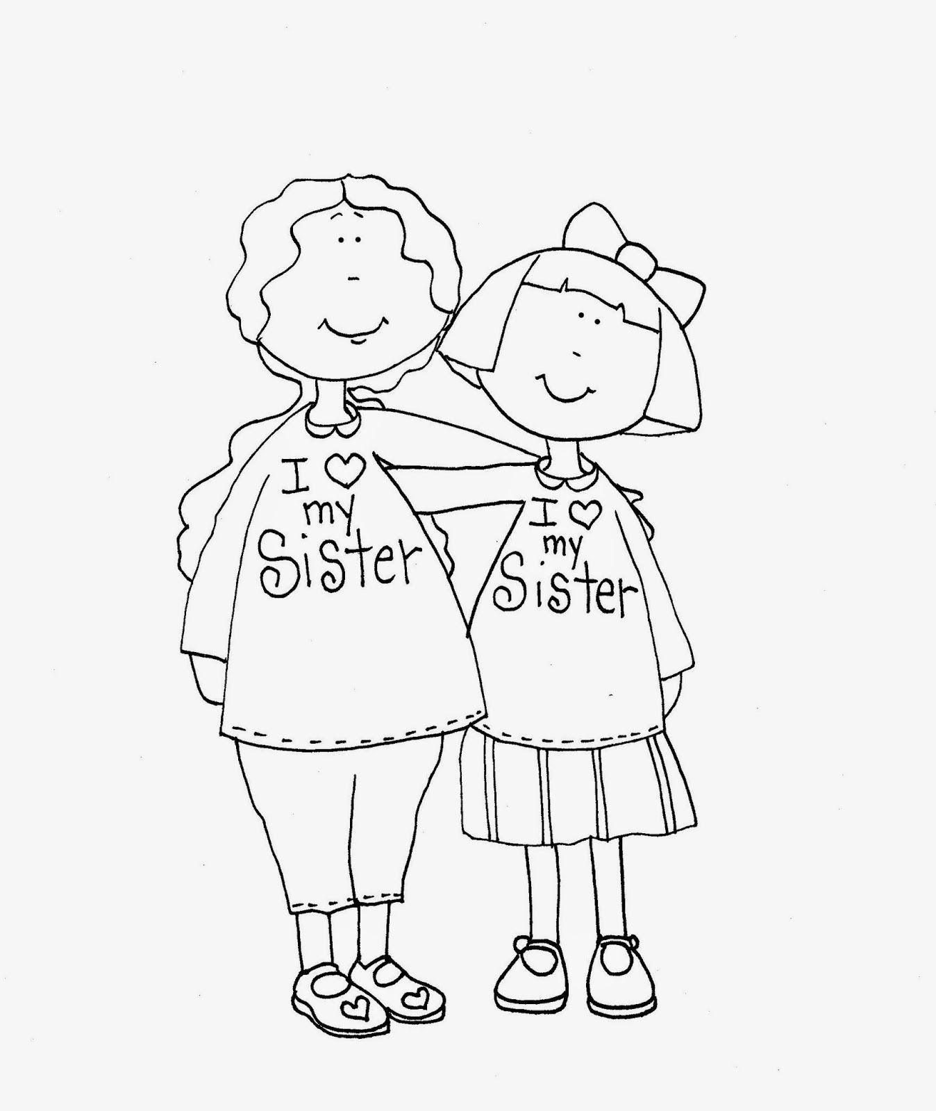 free dearie dolls digi stamps i love my sister  digi