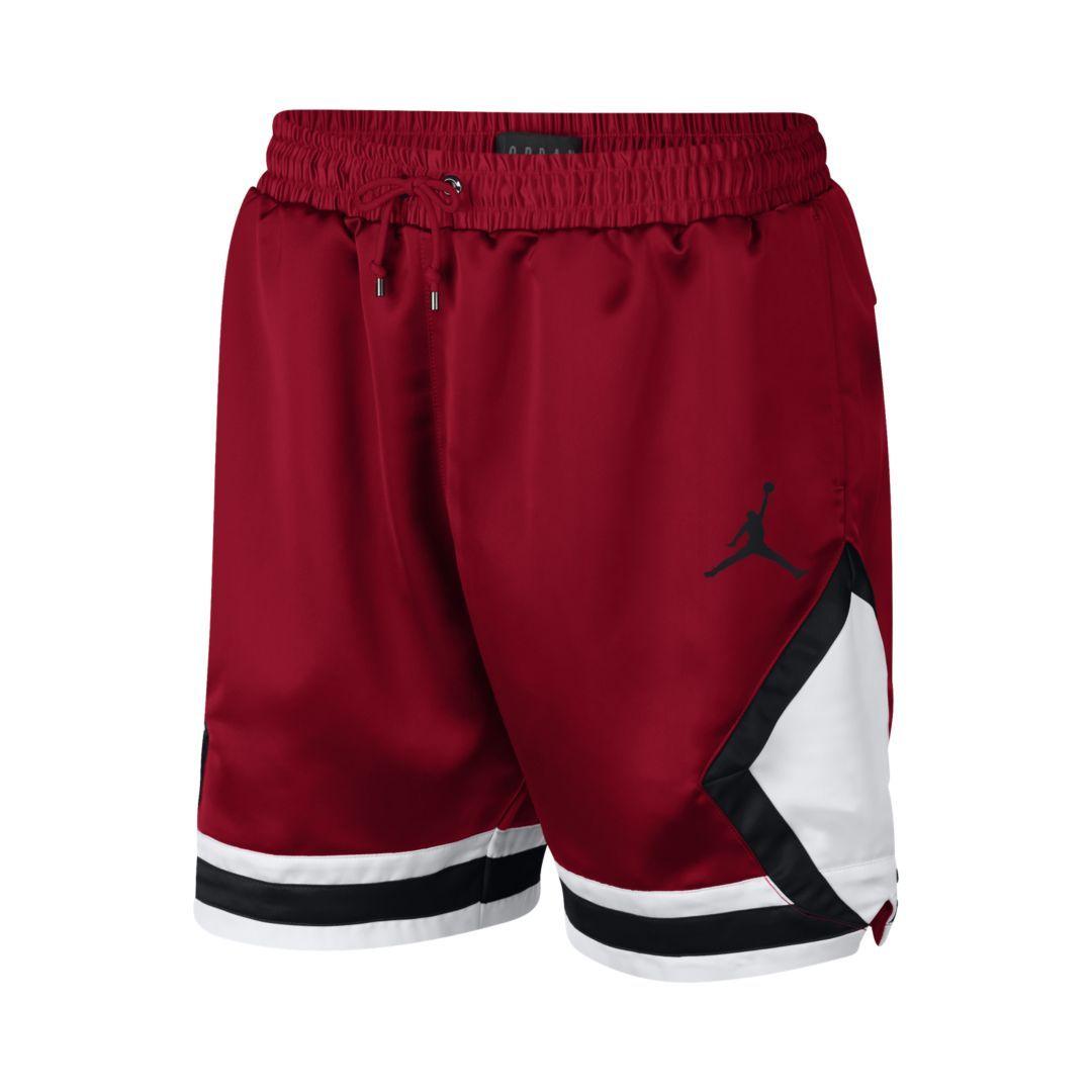 69e23cea54ce Jordan Satin Diamond Men s Shorts Size 2XL (Gym Red)