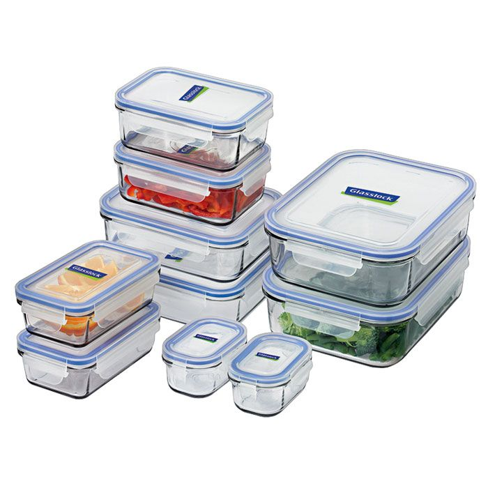 Glasslock Food Storage Container Sets Glasslock Food Container Set 10 Piece Tempered Glass  Products I