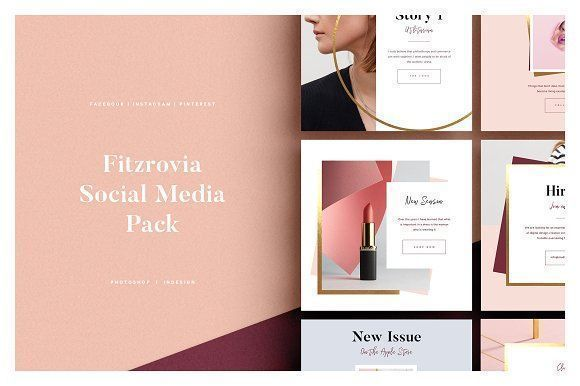 FITZROVIA Social Media Pack by Studio Standard on @creativemarket Social media creative design posts for promotion marketing design templates. Use it for quotes, tips, photos, etiquette, ideas, posts or for presentation your business agency, products sales or designs. Ready to use on Instagram, Pinterest, Facebook, Twitter your Blog or Website. #socialmedia #socialmediamarketing #instagram #design #stories #post #pinterest #feminine #story