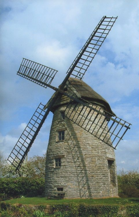 Stembridge Mill Only Windmill With Thatched Cap Somerset