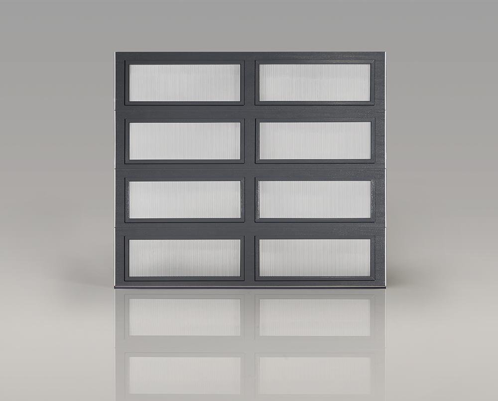 Gray Modern Steel Garage Door | Mountain Modern Garage Doors ...