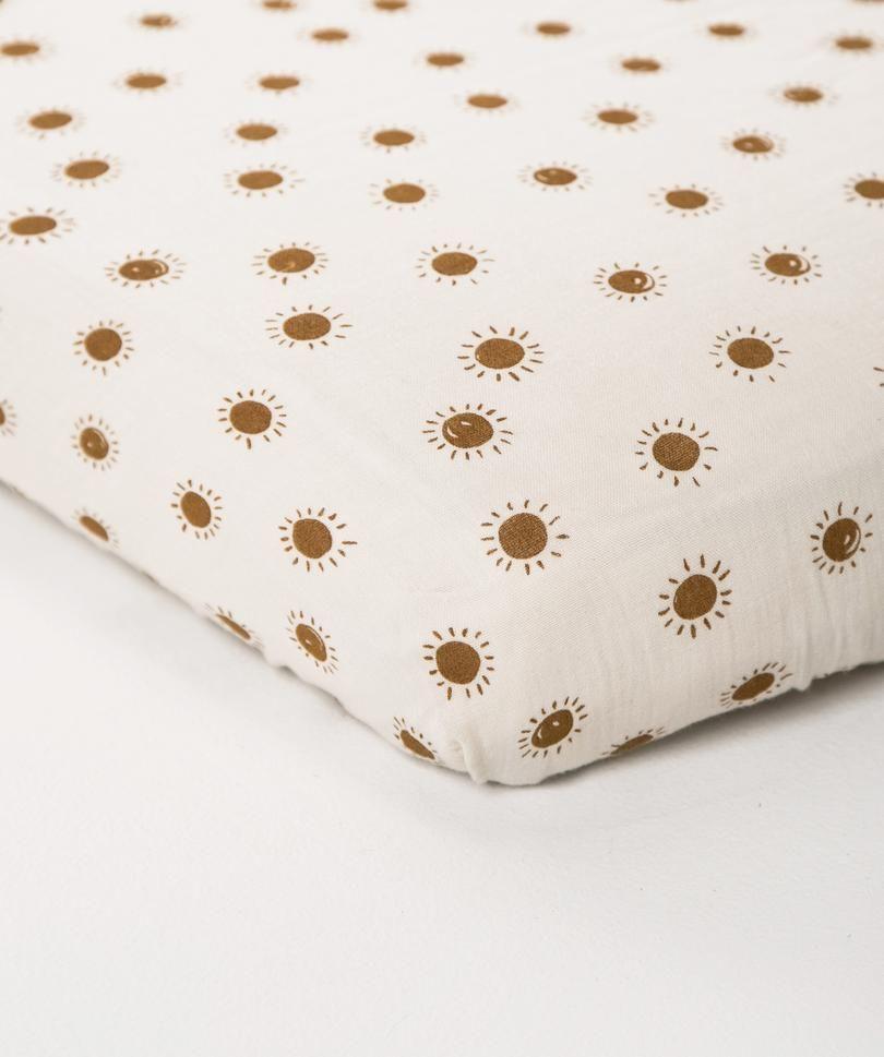 Organic Crib Sheet Sunrise Rylee Cru Organic Cotton Crib