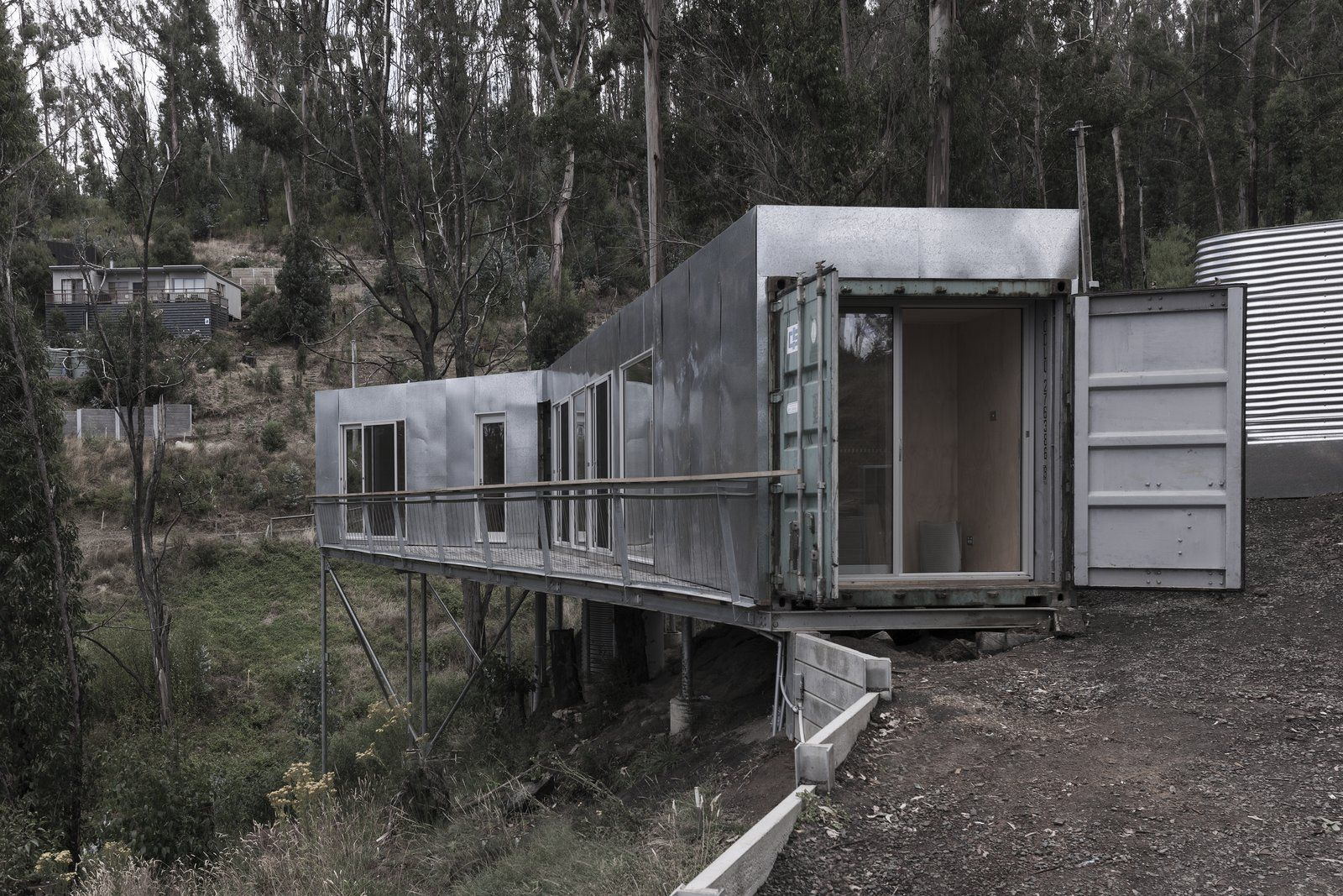 Best Kitchen Gallery: Photo 2 Of 8 In This Off Grid Container Home In Australia Disappears of Off The Grid Container Homes on rachelxblog.com