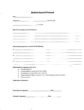 Student Council Proposal Form  Students