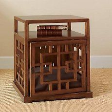 great looking and practicaldog crate end tableliving room