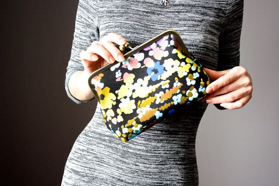 Floral Clutch -  Clutch Purse - Wedding Clutch - Bridesmaid Clutch Bag - Bridesmaid Gift - Evening Bag - Frame Clutch