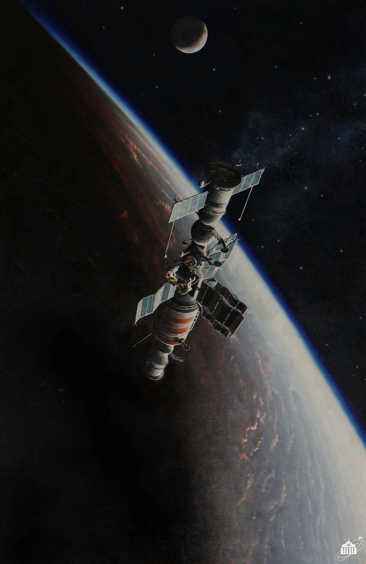 Open Space By A K Sokolov Depicting A Salyut 7 Eva Space