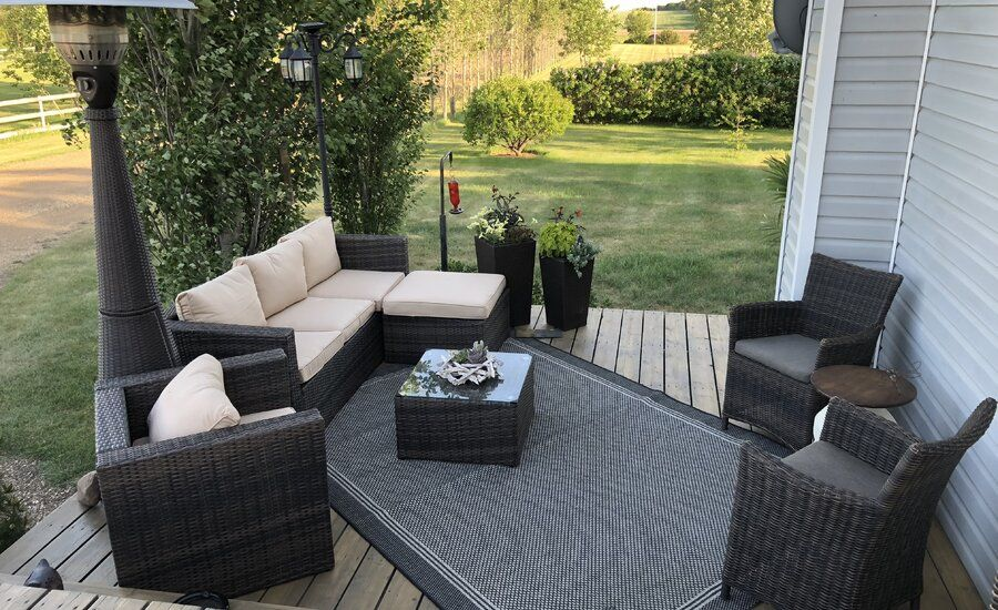 Mercury Row Rister 4 Piece Rattan Sofa Seating Group with