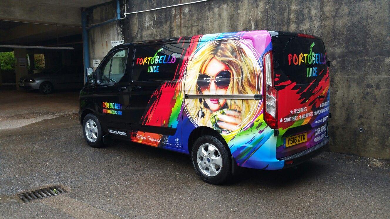 One of our more colourful designs Van design, Van wrap