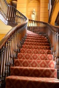 Nestled on the shores of Lake Ontario in Hamilton lies the locally renown Dundurn Castle. A guided tour of the 19th century home reveals much about the time of Sir Allan MacNab and his family. My favourite part of the home is the grande staircase from the foyer to the upstairs.