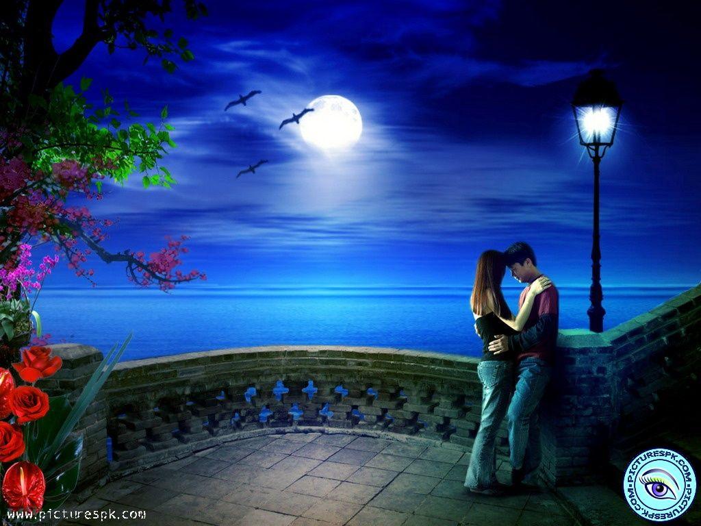 Night Scenes Romantic Night Scene Picture Free Download Fantasi Olahraga