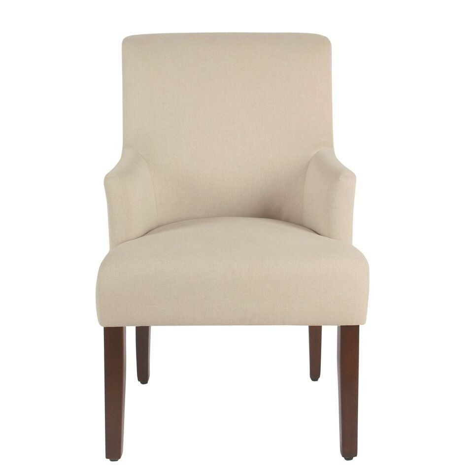 Homepop Meredith Anywhere Chair Stain Resistant Cream