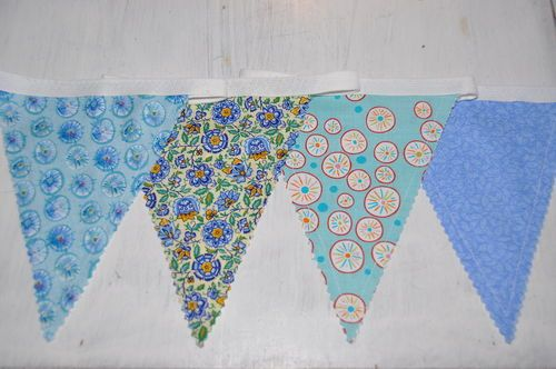 Blue Bunting. SOLD and now in a beach hut in Old Hunstanton.