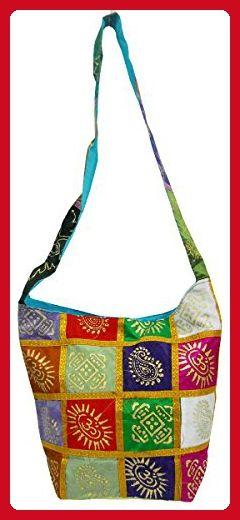 b1224213e224 Hand Block Print Elephant Swastik Design Multi Color Indian Boho Sling Bag   216 - Shoulder bags ( Amazon Partner-Link)