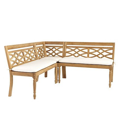 Prime Ceylon Teak 3 Piece Dining Banquette Set Kitchen Wood Inzonedesignstudio Interior Chair Design Inzonedesignstudiocom