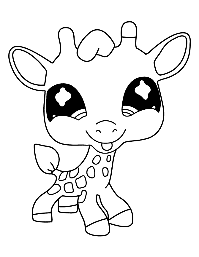 Littlest pet shop deer cute littlest pet shop coloring - Coloriage lps ...