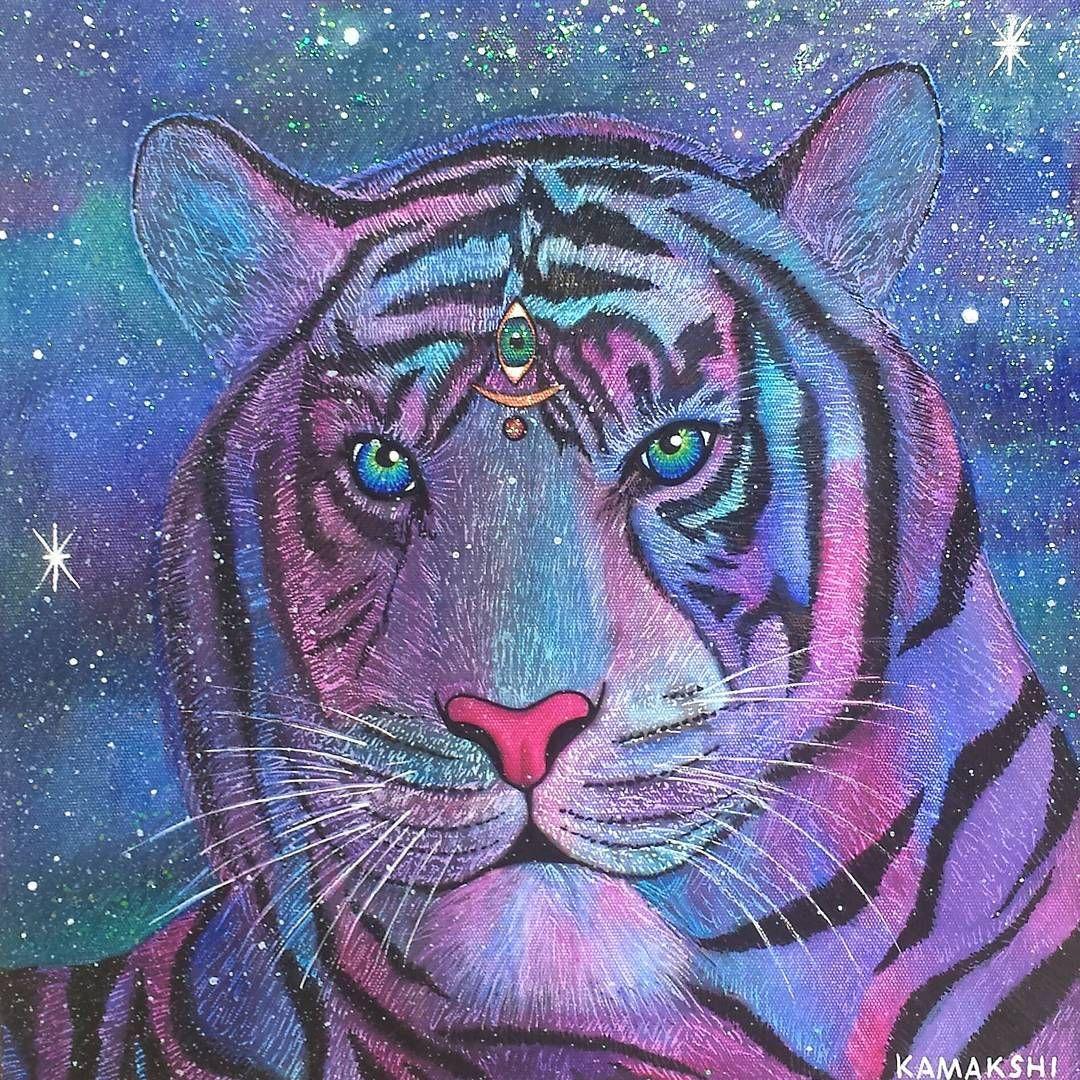 1 Likes 1 Comments Kamakshi Crystals Kamakshicrystals On Instagram The Cosmic Tiger I M Current Tiger Spirit Animal Spirit Animal Totem Spirit Animal