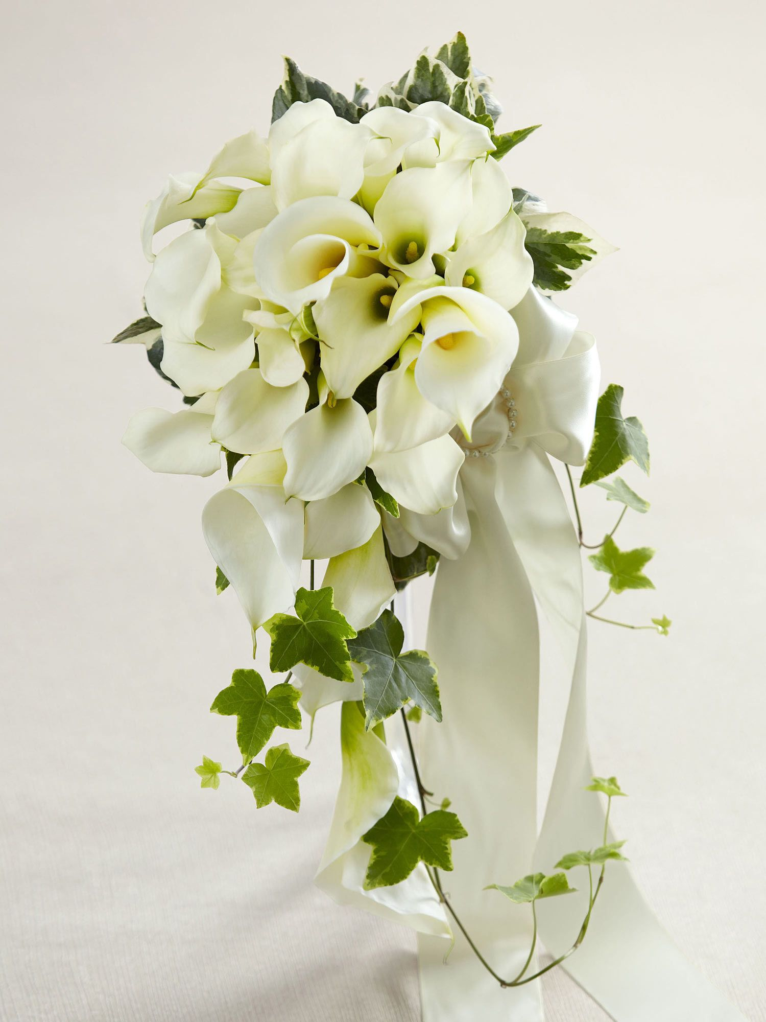 White Calla Lily Cascade Bouquet Interflora