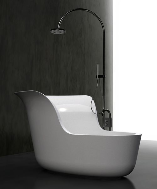 Small Soaking Tub Shower Combo by Marmorin | Pinterest | Tub shower ...