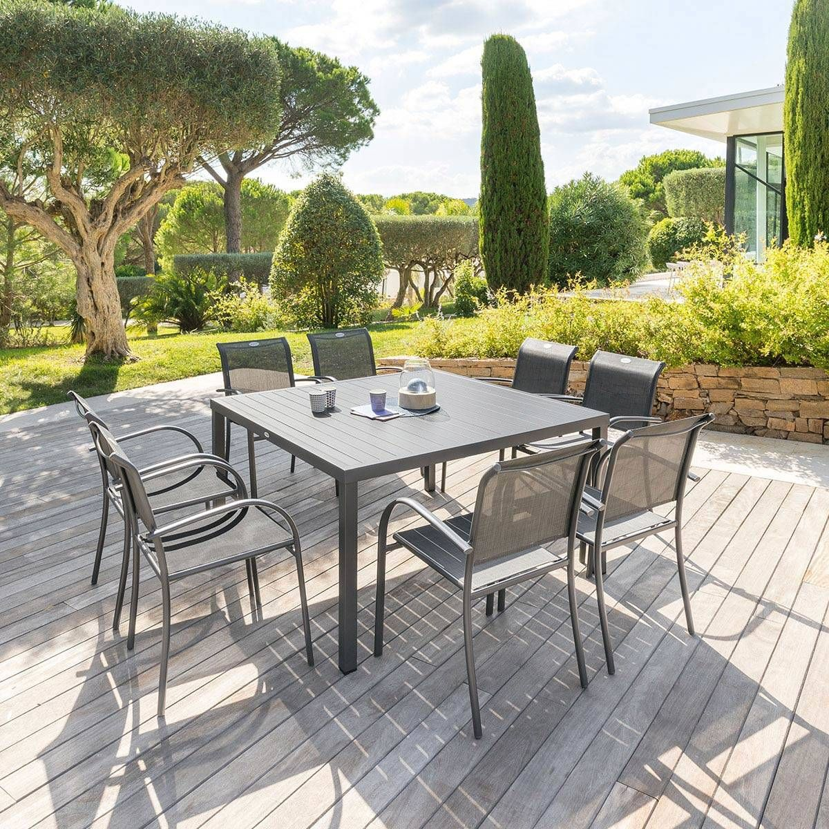 Table De Jardin Carra C E Piazza Graphite Hesperide Table De