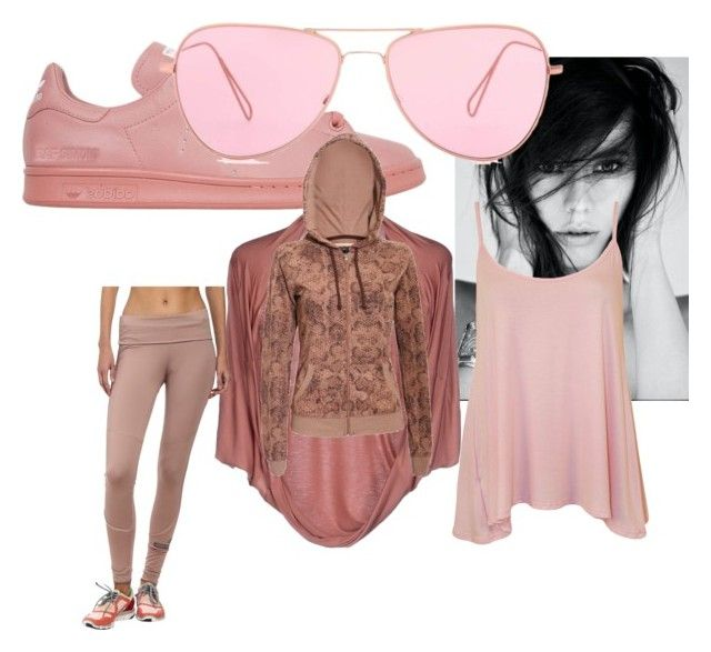 """""""pink panther"""" by naptastic on Polyvore featuring adidas, Annarita N., Pilot, WearAll, Isabel Marant, women's clothing, women, female, woman and misses"""