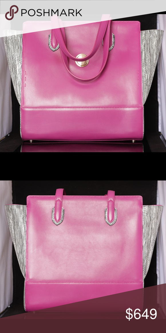 pink zebra luxury italian made tote all of our luxury bags are rh pinterest ca