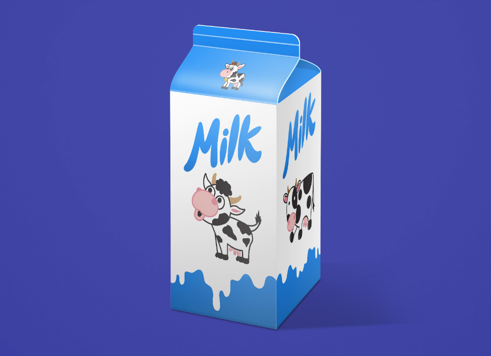 Download Pin By Zee Que On Free Graphic Goodies Packaging Mockup Milk Carton Box Packaging