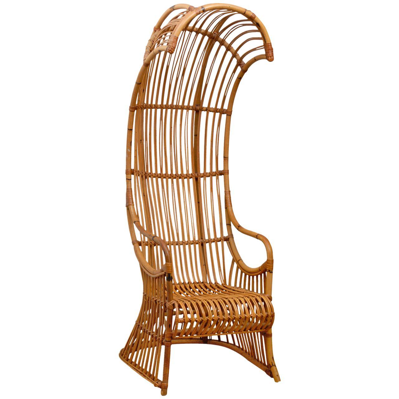 1stdibs.com | Rattan Hooded Chair