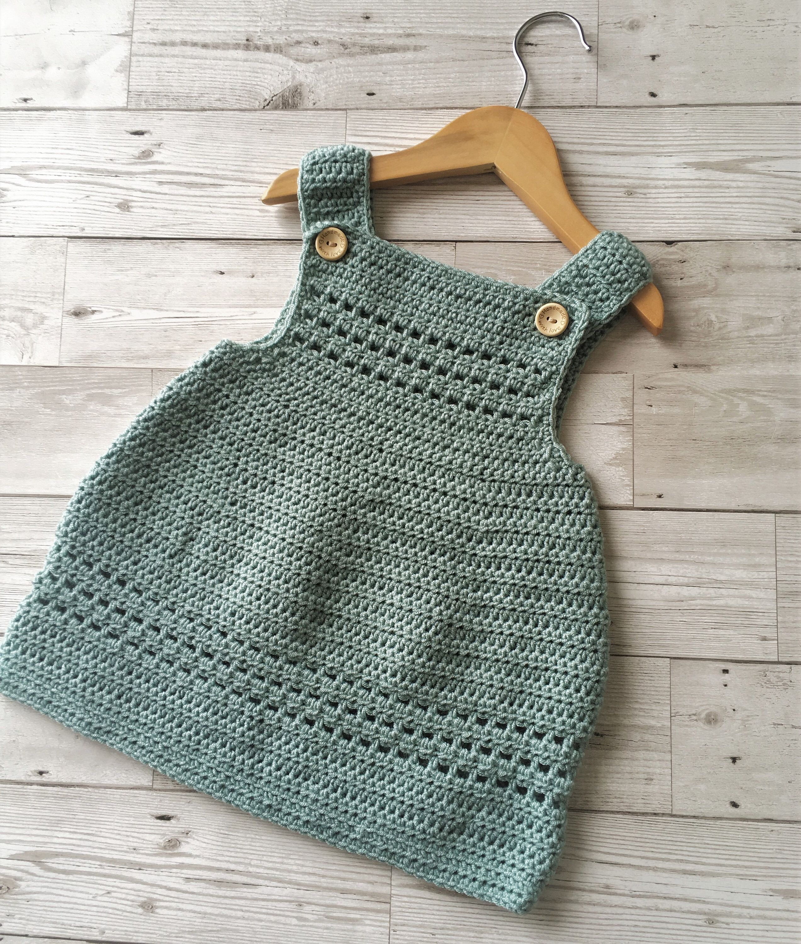 Photo of Crochet Pattern Baby Dress / Pinafore – newborn to 24 months