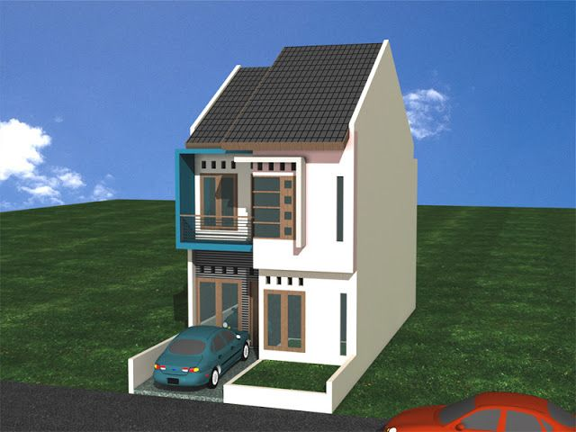 Contoh rumah minimalis type 36 2 lantai in 2020 | House ...
