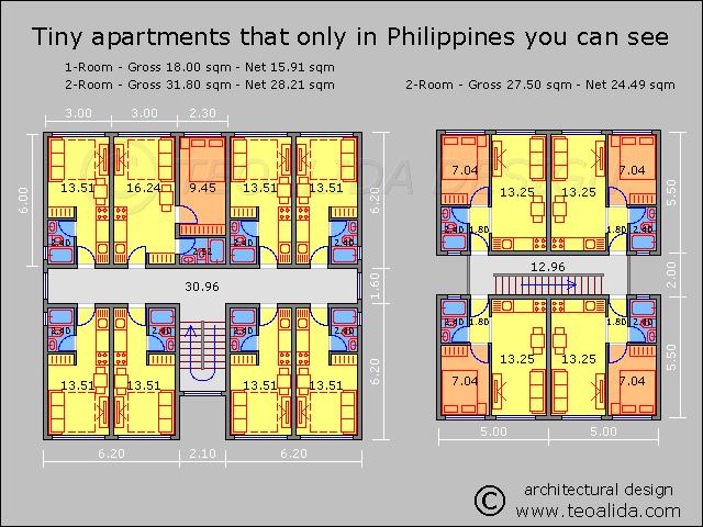 Philippines Tiny Apartments Apartment Plans Apartment Design