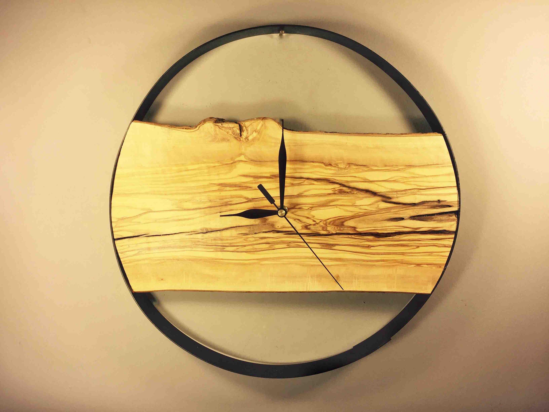 Modern Wooden Wall Clock, Large Wall Clock, Unusual Wall Clock, Wood ...