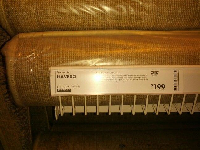 IKEA Havbro Rug Off White Wool Looped Not Pile 199 Almost 6 IkeaDining Room