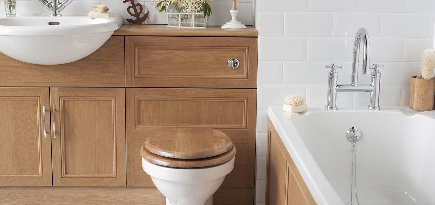 Heritage bathroom furniture - Heritage Classic Oak Bathroom Furniture